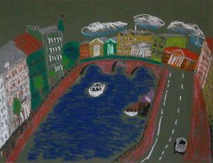 Скетч зарисовка Петербург художник Фонтанка | Nadin Piter Надин Питер блог Нади Демкиной