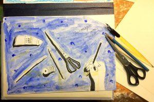 Надя Демкина художник Петербург скетч рабочий стол | Nadin Piter Надин Питер блог Нади Демкиной