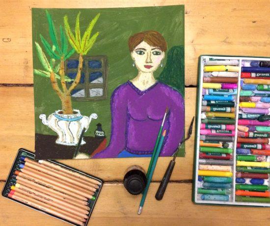 Скетч зарисовка Надя Демкина художник автопортрет | Nadin Piter Надин Питер блог Нади Демкиной