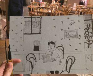 Творческое свидание Джулия Кэмерон Скетч тушь рисую в кафе | Nadin Piter Надин Питер блог Нади Демкиной