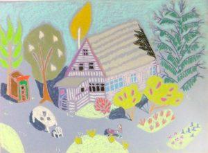 Картина пастель дача Петербург дом | Nadin Piter Надин Питер блог Нади Демкиной