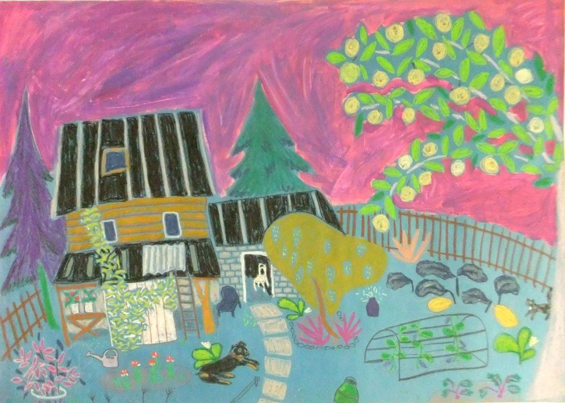 Картина пастель дача дом Киров Вятка | Nadin Piter Надин Питер блог Нади Демкиной
