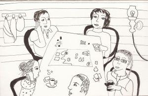 Скетч тушь рисунок дача веранда | Nadin Piter Надин Питер блог Нади Демкиной