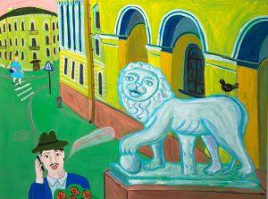 Прогулки по Питеру вдохновение Картина лев художник | Nadin Piter Надин Питер блог Нади Демкиной