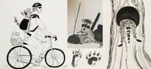Тушь для рисования скетч зарисовка иллюстрации енот Петербург | Nadin Piter Надин Питер блог Нади Демкиной