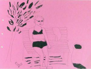 Рисунок скетч пляж море набросок художник Надя Демкина | Nadin Piter Надин Питер блог Нади Демкиной