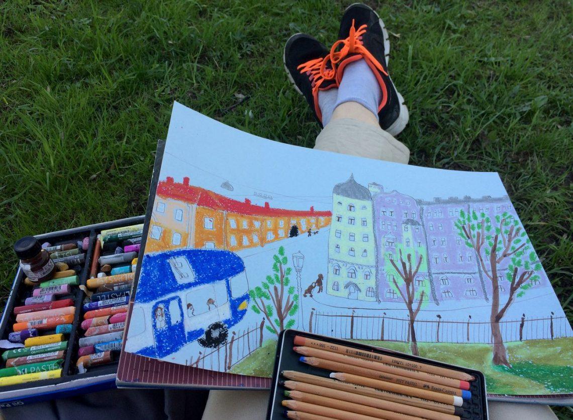 Пленэр художника Петербург куда пойти рисовать | Nadin Piter Надин Питер блог Нади Демкиной