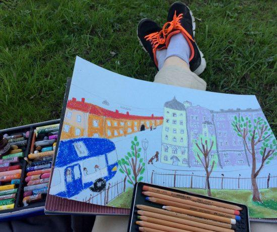 Пленэр художника Петербург куда пойти рисовать   Nadin Piter Надин Питер блог Нади Демкиной