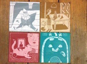 Материалы для рисования как начать рисовать линогравюра Надя Демкина | Nadin Piter Надин Питер блог Нади Демкиной