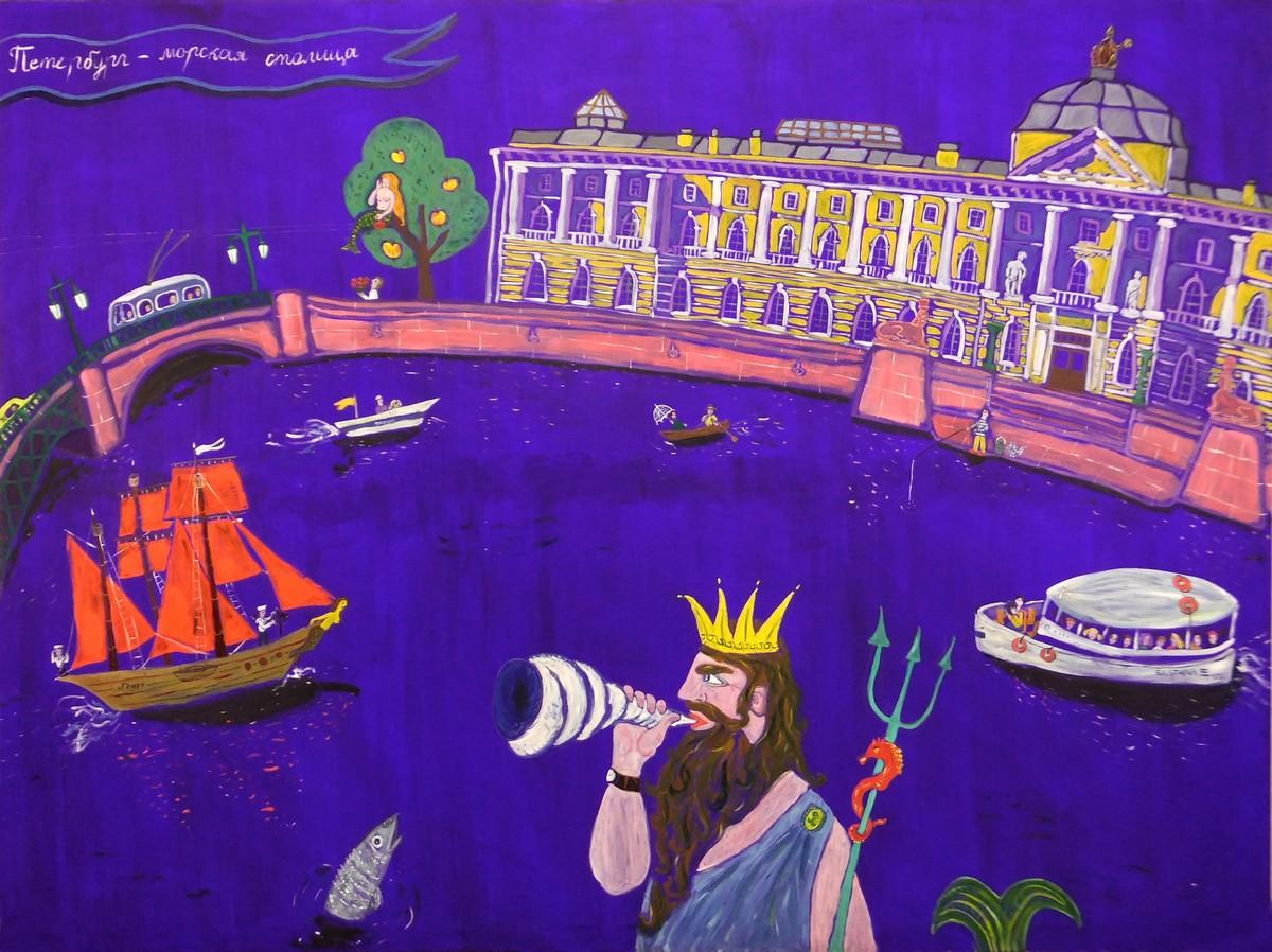 Надя Демкина художник Истории картин Морской Петербург | Nadin Piter Надин Питер блог Нади Демкиной