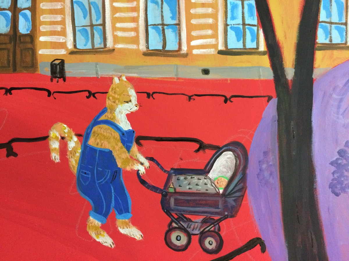 Надя Демкина художник Истории картин Поэт в саду Фонтанного Дома | Nadin Piter Надин Питер блог Нади Демкиной