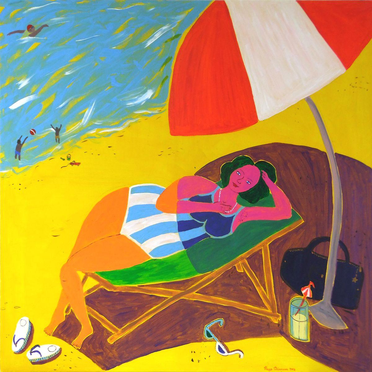 Как нарисовать лето: пляжные зарисовки | Nadin Piter Надин Питер блог Нади Демкиной