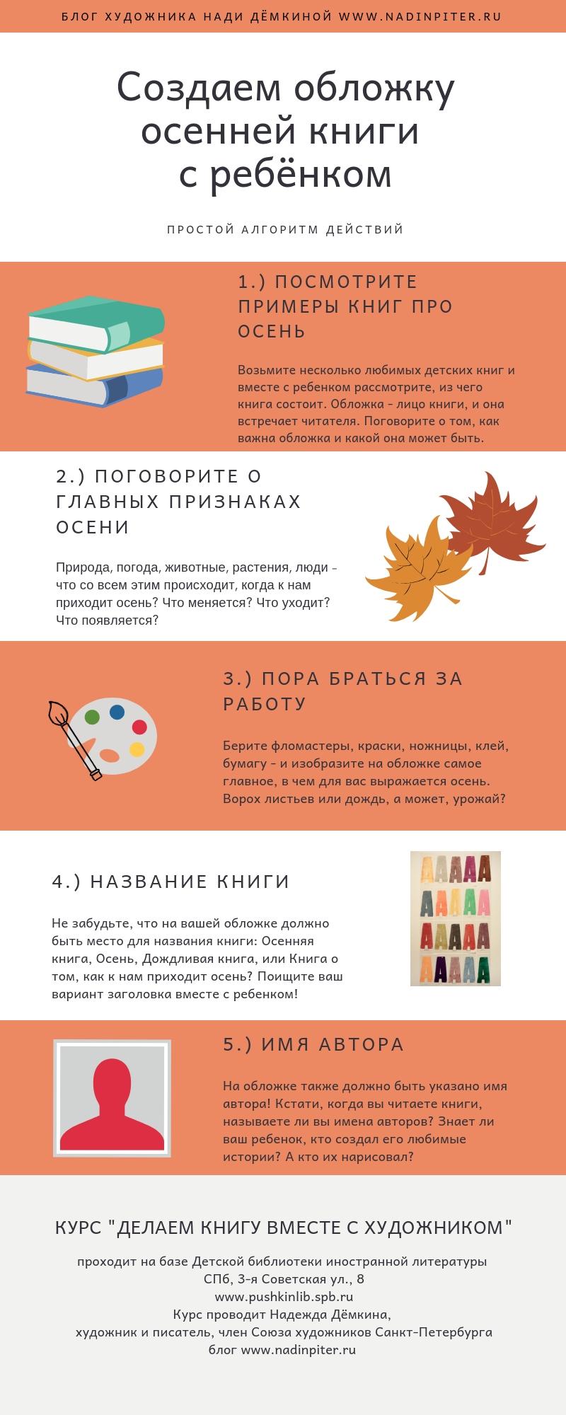 Как сделать осеннюю книгу с детьми: инструкция художника | Nadin Piter Надин Питер блог Нади Демкиной