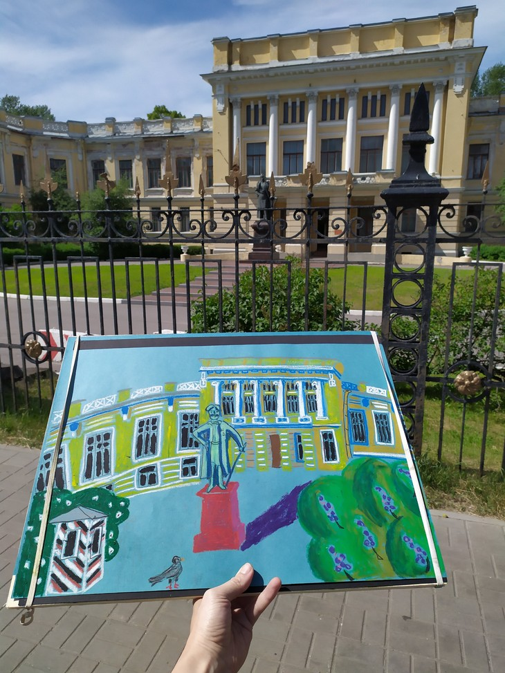 Рисую на пленэре - 7 бесплатных подарков для художника | Nadin Piter Надин Питер блог Нади Демкиной