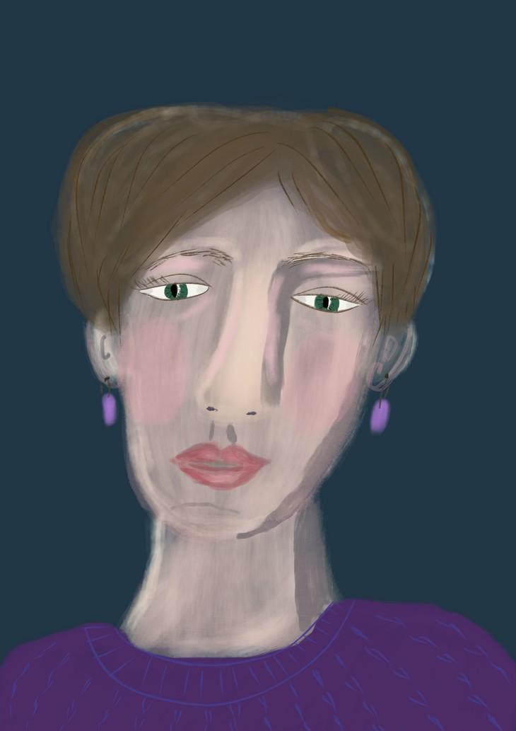 Иллюстрация Нади Демкиной к статье Страхи в творчестве | Nadin Piter Надин Питер блог Нади Демкиной