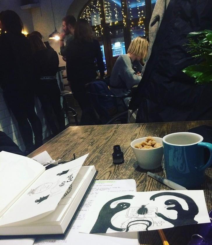 Делаю рисунки к статье Страхи в творчестве | Nadin Piter Надин Питер блог Нади Демкиной