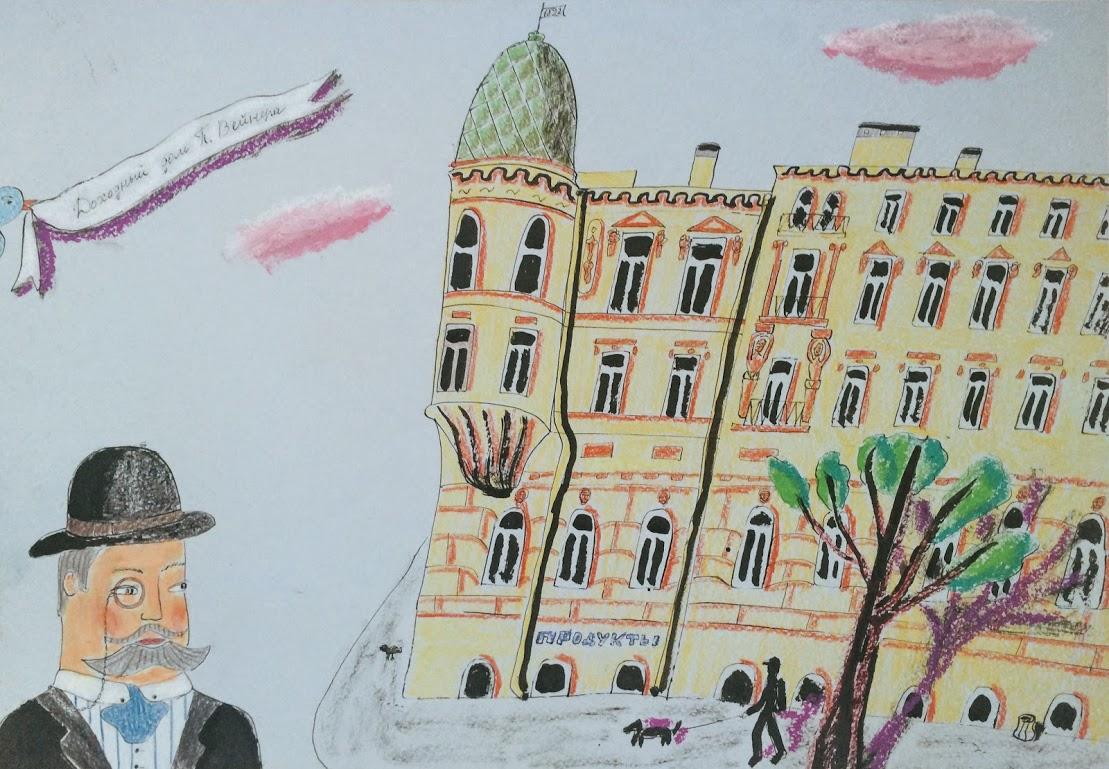 Портрет дома Чайковского 38 история Петербург картина   Nadin Piter Надин Питер блог Нади Демкиной